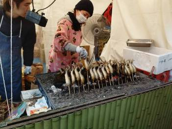 My idea of hell to be honest.. but Dave said it was the best thing he ate all week! a full fish on a stick. shudder